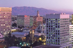 Downtown San Jose, California, where I pedi-cab