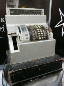 If you plan on working retail, get very comfortable with looking at a cash register.