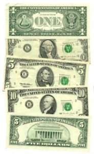 Get used to looking at the 1's and 5's. Retail money isn't huge.